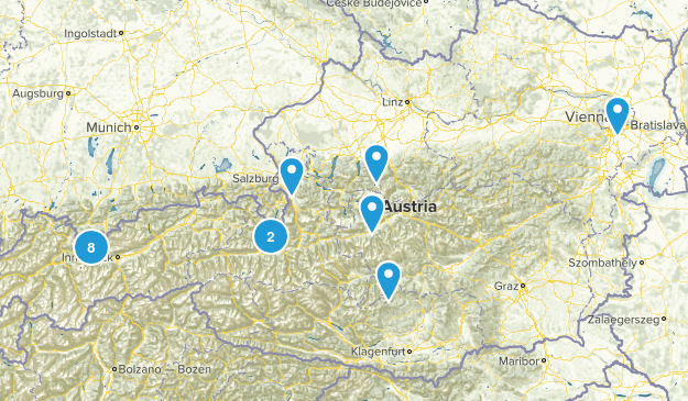 Austria Walking Map