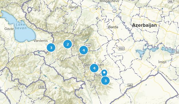 Azerbaïdjan Bird Watching Map
