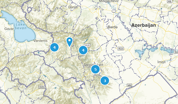 Azerbaijan Nature Trips Map