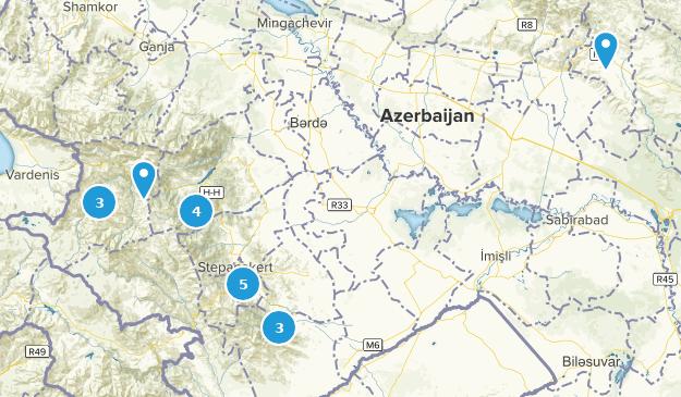 Azerbaijan Wild Flowers Map