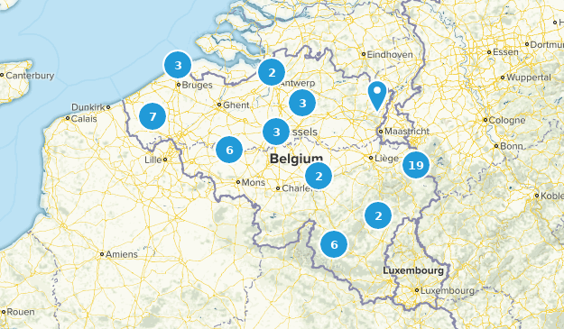 Belgique Hiking Map