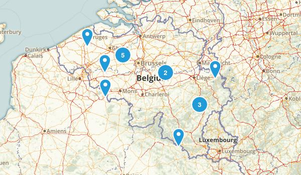 Belgium Walking Map