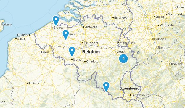 Belgium Wildlife Map