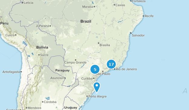 Brazil Hiking Map