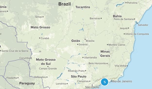 Brazil State Parks Map