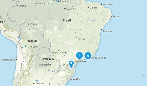 Brazil Trail Running Map