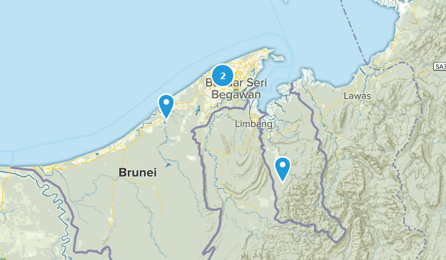 Brunei Parks Map
