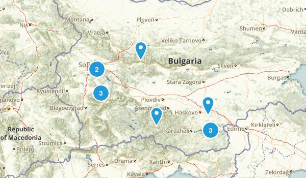 Bulgaria Hiking Map