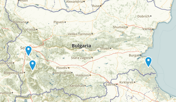 Bulgaria Parks Map