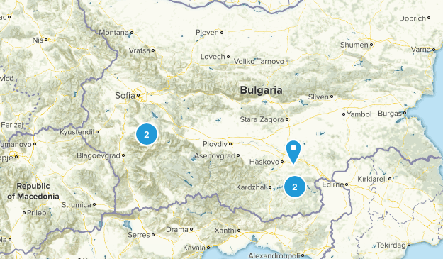 Bulgaria Wild Flowers Map