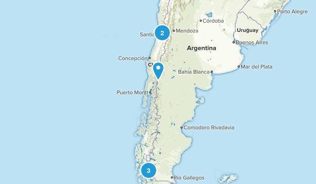 Chile Backpacking Map