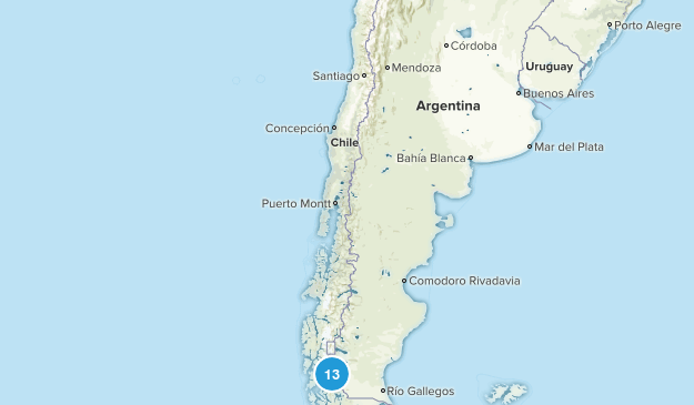 Chile National Parks Map