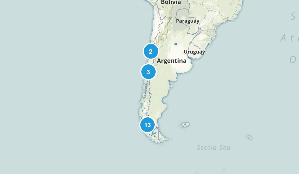 Chile Parks Map