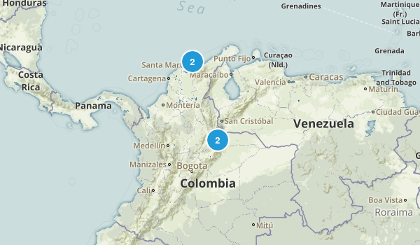 Colombia National Parks Map
