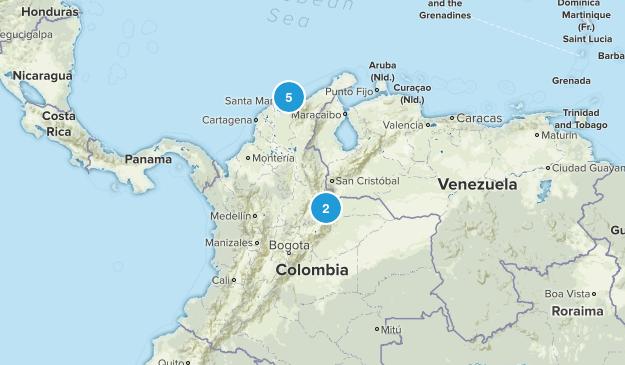Colombia Walking Map