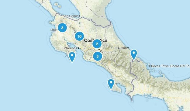 Costa Rica Nature Trips Map