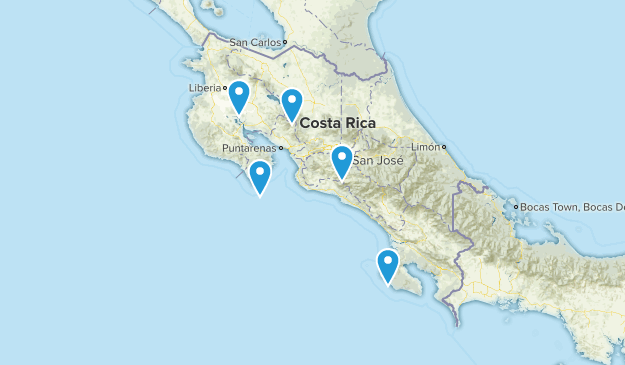 Costa Rica River Map