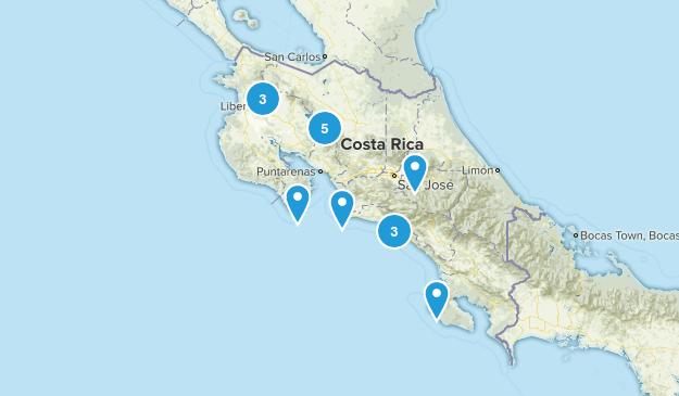 Costa Rica Wildlife Map