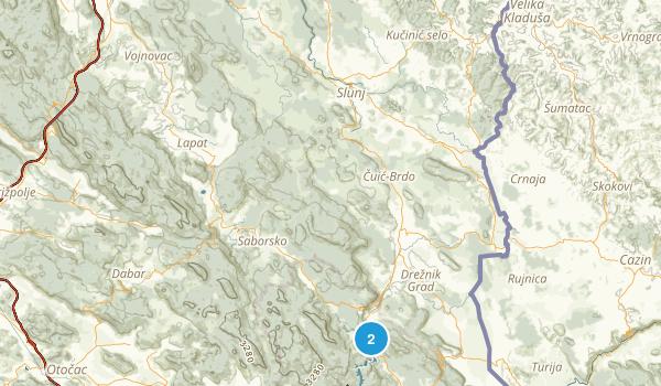 Croatia National Parks Map