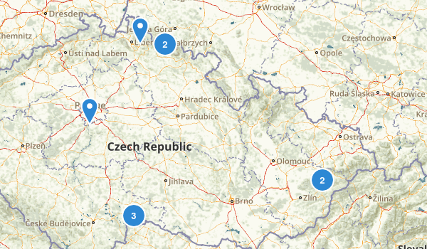 Czech Republic Hiking Map