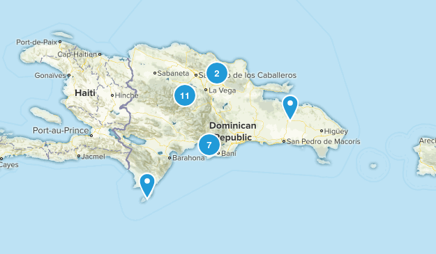 Dominican Republic Hiking Map