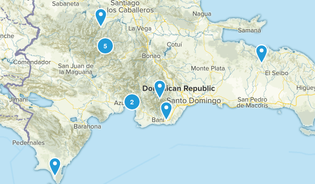 Dominican Republic Trail Running Map
