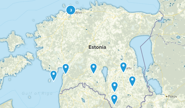 Estonie Nature Trips Map