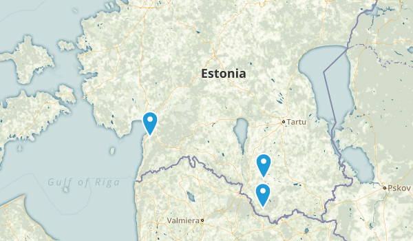 Estonia Parks Map
