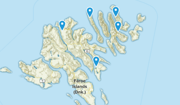 Îles Féroé Walking Map