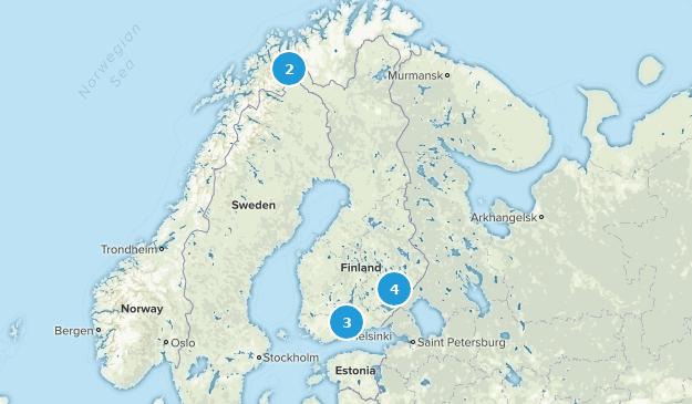 Finland Lake Map