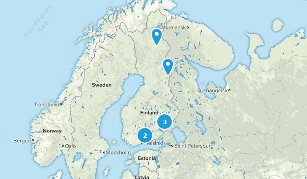 Finland Parks Map