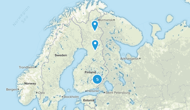 Finland Trail Running Map