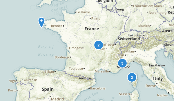 France Backpacking Map