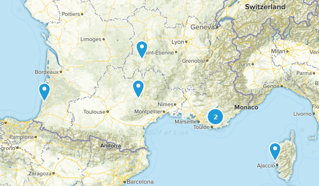 France Paddle Sports Map