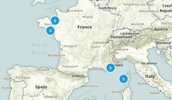 France Scenic Driving Map