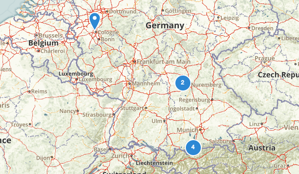 Germany Birding Map