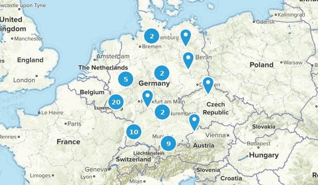 Germany Lake Map