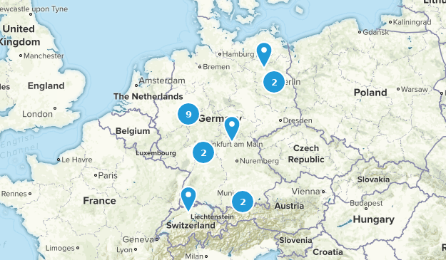 Germany Mountain Biking Map