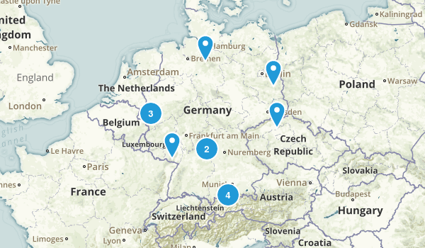 Germany Parks Map