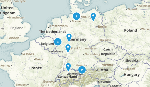 Germany Trail Running Map