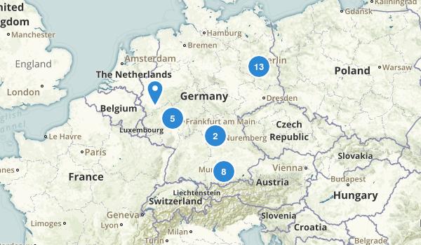 Germany Walking Map