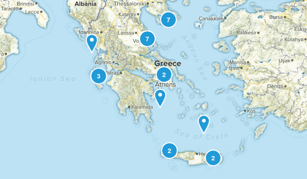 Greece Birding Map