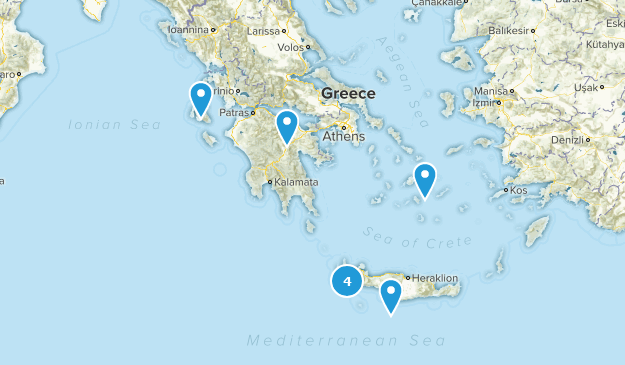 Greece Cave Map