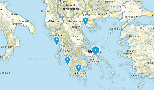 Greece Mountain Biking Map