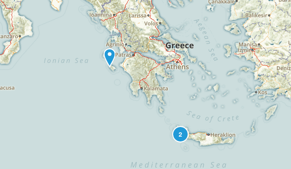 Greece Parks Map