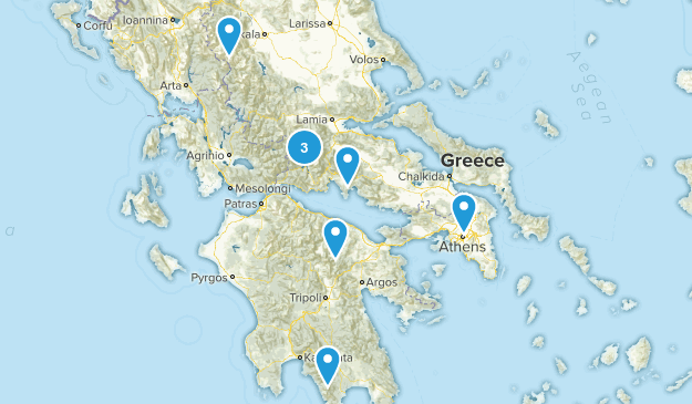 Greece Snowshoeing Map