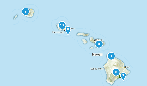 Hawaii Camping Map