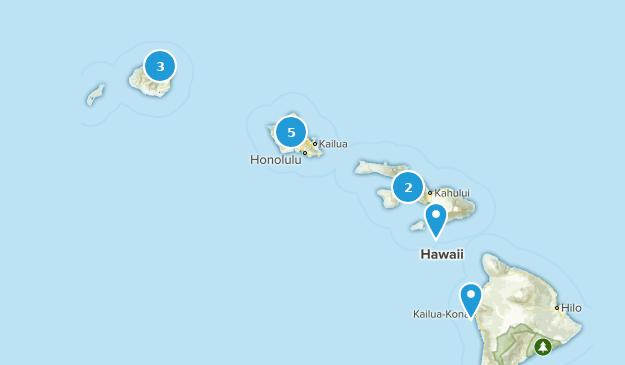 Hawaii Paddle Sports Map
