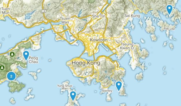 Hong Kong Beach Map