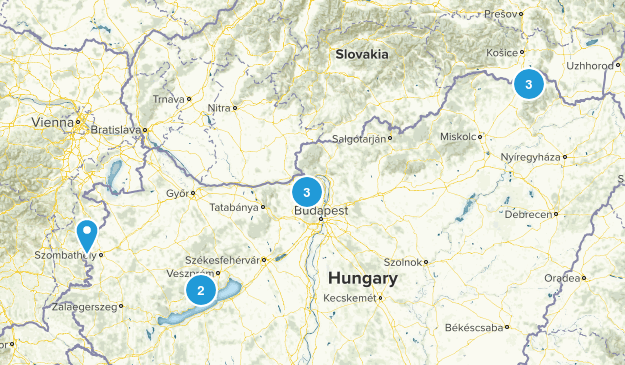 Hungary Hiking Map